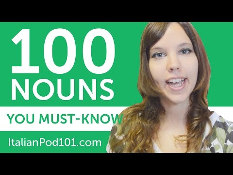 100 Nouns Every Italian Beginner Must-Know