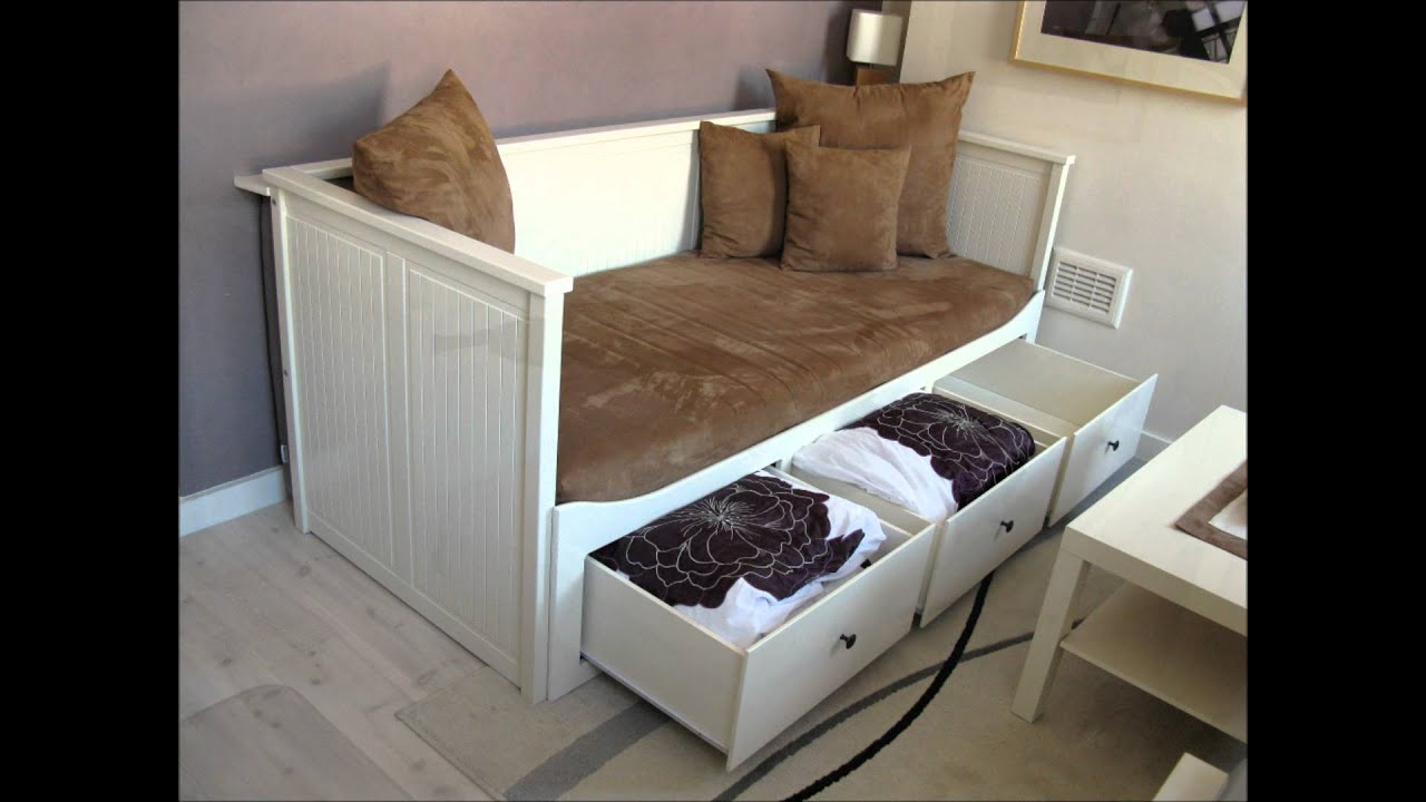 ikea hemnes day bed youtube. Black Bedroom Furniture Sets. Home Design Ideas
