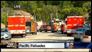Brush Fire Comes Perilously Close To Upscale Pacific Palisades Homes