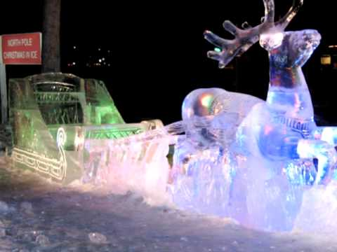 Christmas in Ice Sculptures in North Pole, Alaska - YouTube