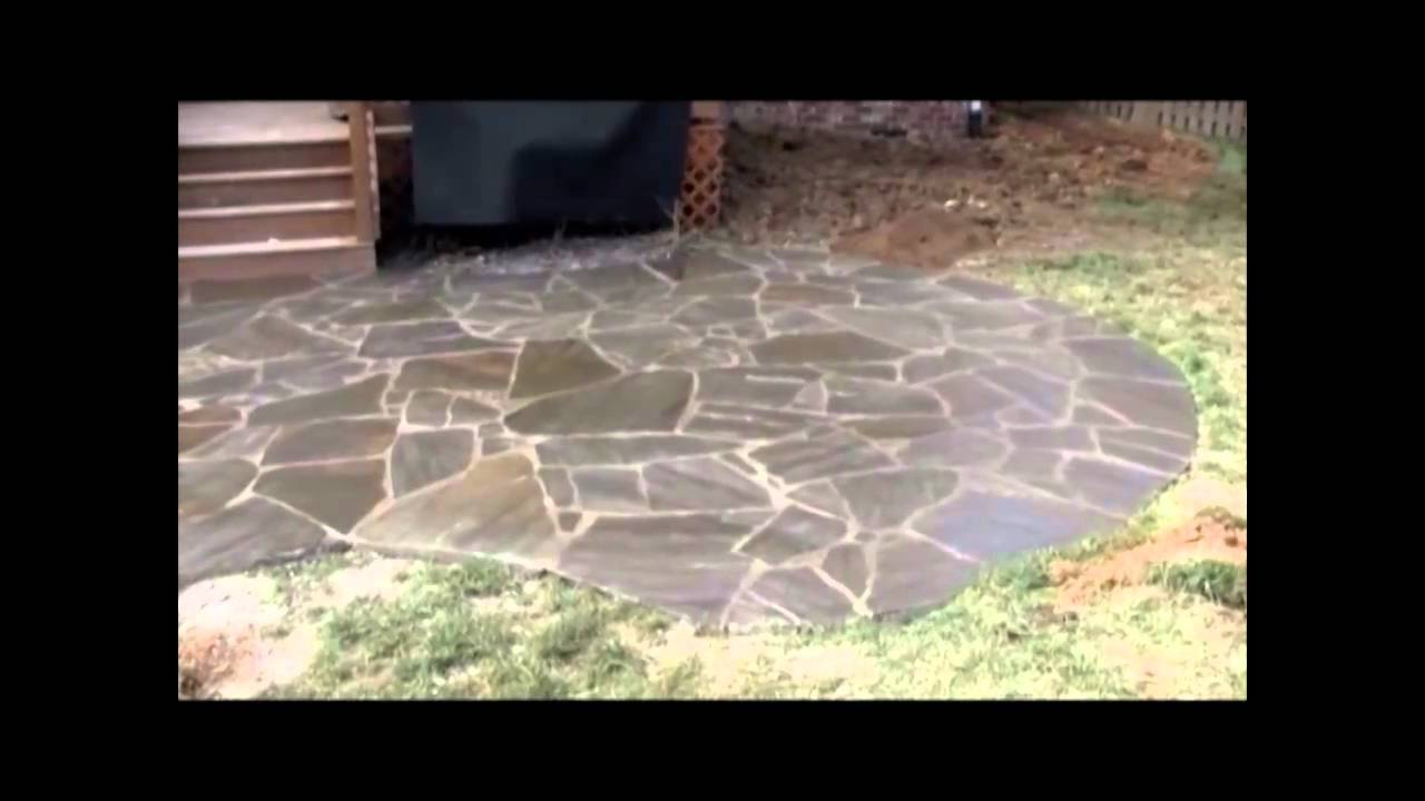 Sealing A Flagstone Patio Being Sealed Mp4