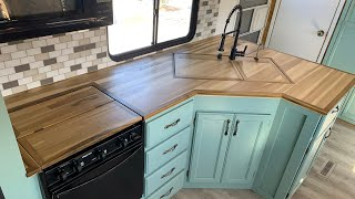 DIY: How To Mąke a Butcher Block Countertop