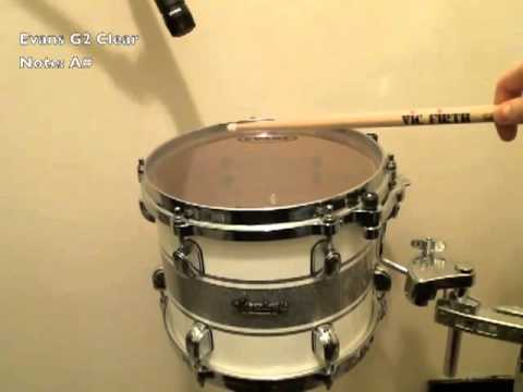 evans g2 clear note comparison drumstereo youtube. Black Bedroom Furniture Sets. Home Design Ideas