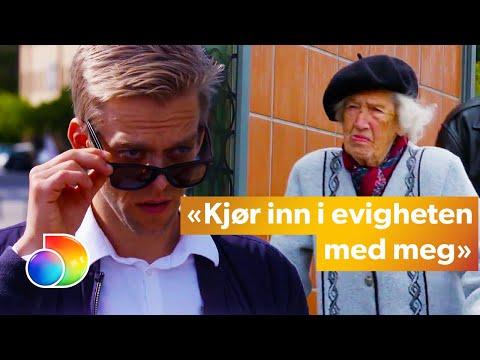Calle chats up older women   Calle prøver å sjekke opp eldre damer   Mandagsklubben   TVNorge