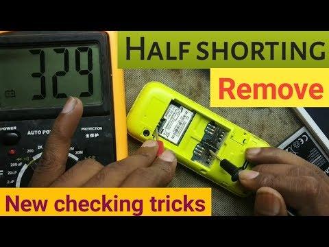Half shorting mobile repair / how to repair half shorting mobile phone solution