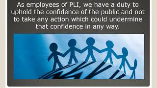 PLI Code of Conduct Online Learning Video 2018