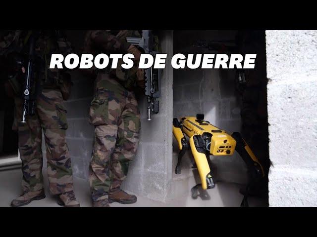 L'armée française teste le chien robot
