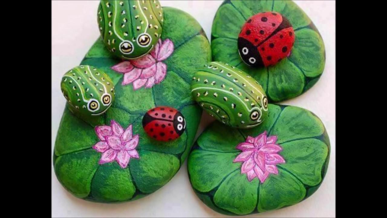 11 Beautiful Stone Painting Ideas - SAMA crazy video - YouTube