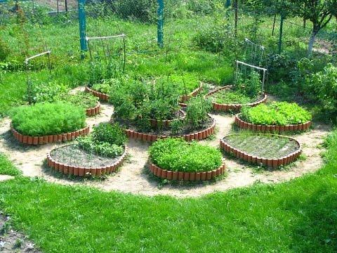 Cмотреть онлайн Наши грядки в саду, грядки на огороде.  Красивое оформление градок в саду и огороде