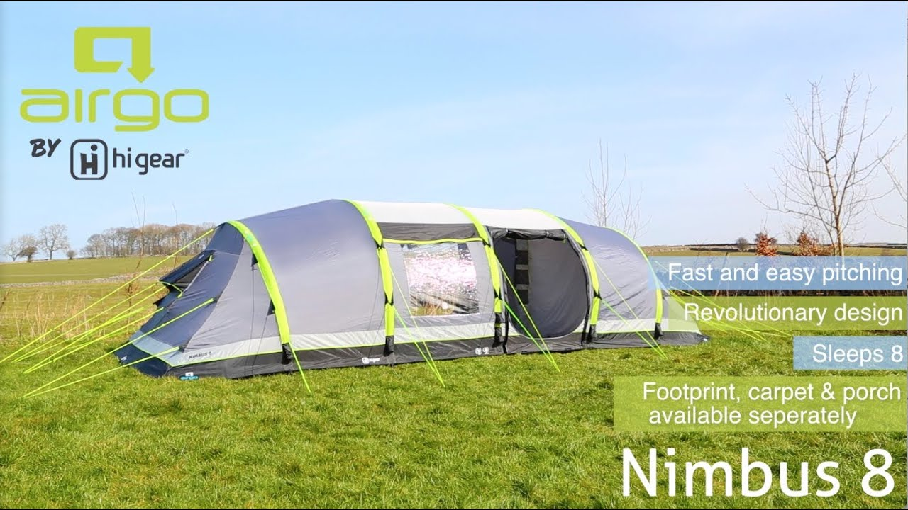 ca3a0906654 Hi Gear Airgo Nimbus 8 Family Tent - YouTube