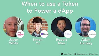 TF1 | When to Use a Token to Power a dApp | Panel