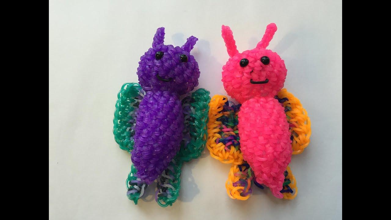 Amigurumi Butterfly Tutorial : Butterfly Tutorial Rainbow Loom Kawaii Loomigurumi ...