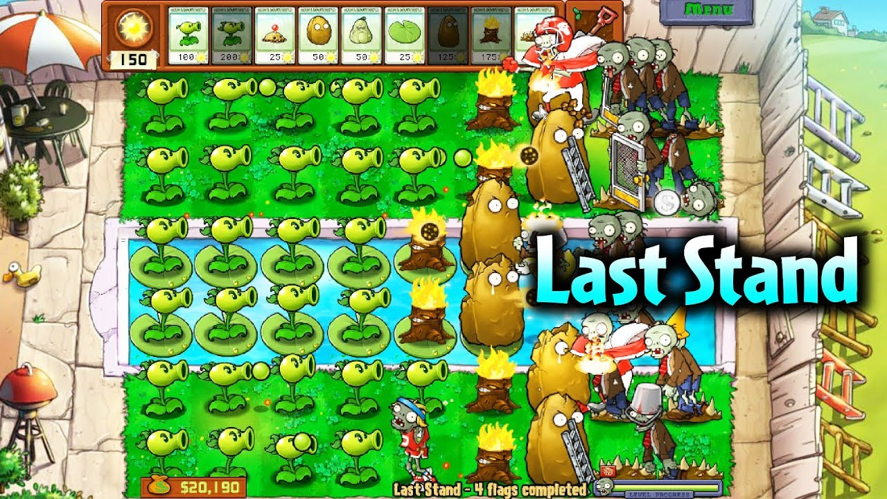 [#21] Last Stand – 5 Lần Tấn Công Của Zombie – Mini Game Trong Plants Vs Zombies