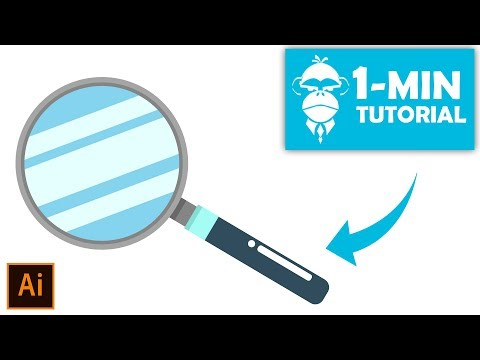 Flat Design Magnifying Glass - Illustrator Tutorial