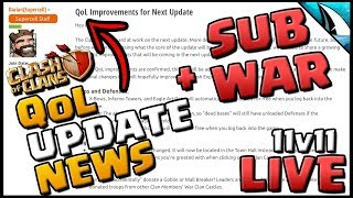 *UPDATE NEWS* QoL & Subscriber War + New 5v5 Discord | Clash of Clans