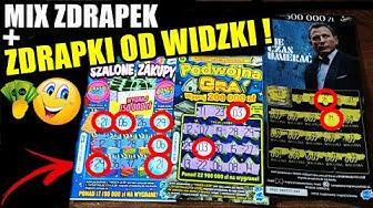 Zdrapki Lotto - MIX ZDRAPEK ZA 66 ZŁ ! + ZDRAPKI OD WIDZKI ! JEST OK :D