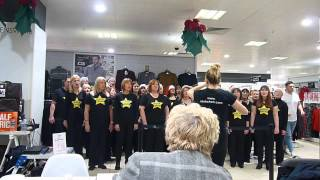 Bromsgrove & Redditch Rock Choirs sing Fall At Your Feet at Merry Hill (06/12/14)