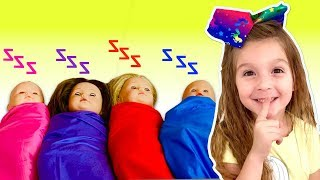 Are you Sleeping brother John - Nursery Rhyme Song by Elya & Adelya Kids Show - Play with baby dolls