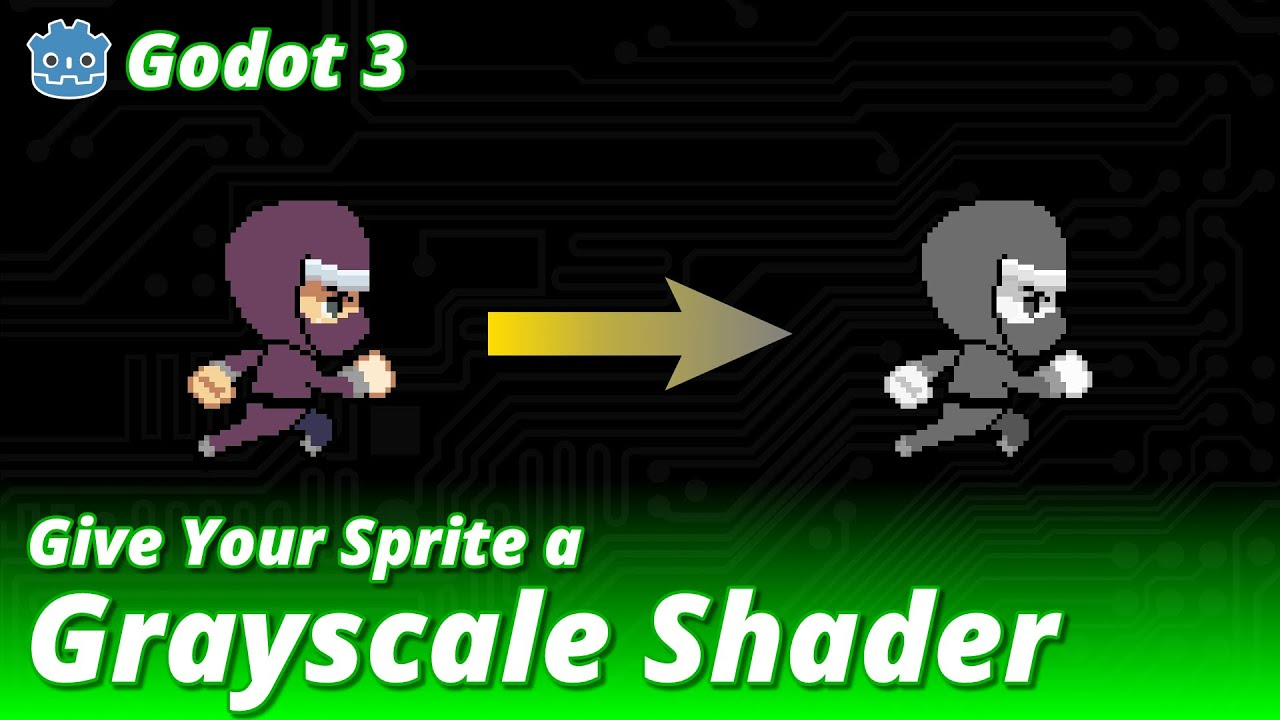 Godot 3 - Give Your Sprite a Grayscale Shader