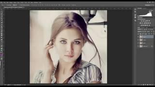 Урок Photoshop – Профессиональная портретная ретушь в фотошопе.