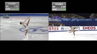 Alena Kostornaia SP at Junior GP Final 2018 vs NHK Trophy 2019 Алёна Косторная КП Гран При 2018 19