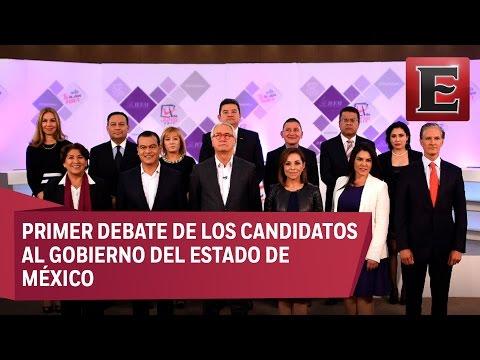 Primer debate entre los candidatos al Gobierno del Estado de México