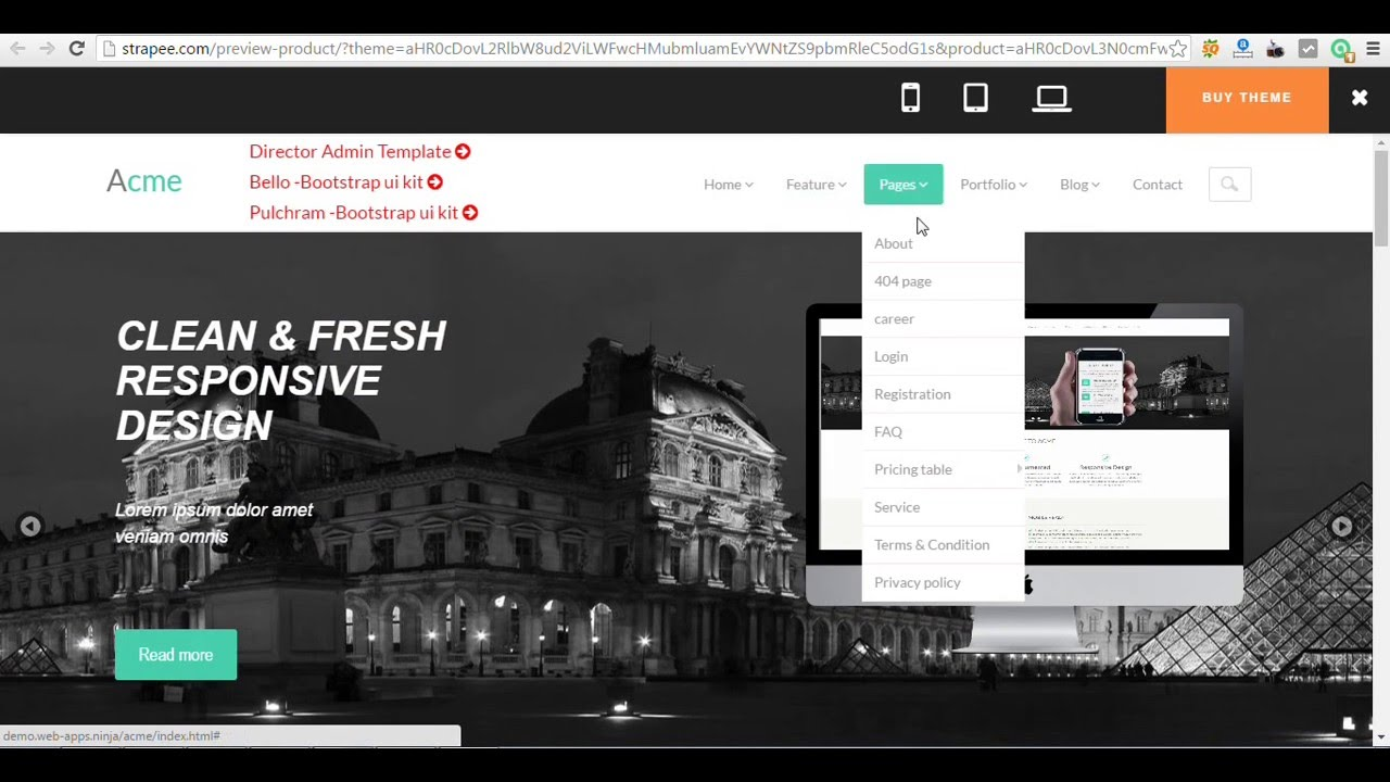acme free responsive corporate template html