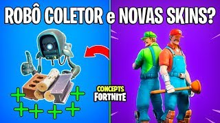 FORTNITE Concepts-ROBOT MATERIAL COLLECTOR and SKINS MARIO and LUIGI?