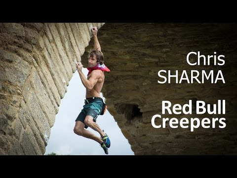 Chris Sharma climbing
