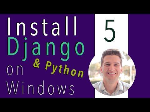 Install Django and Python on Windows 5 of 9 - First Django Project