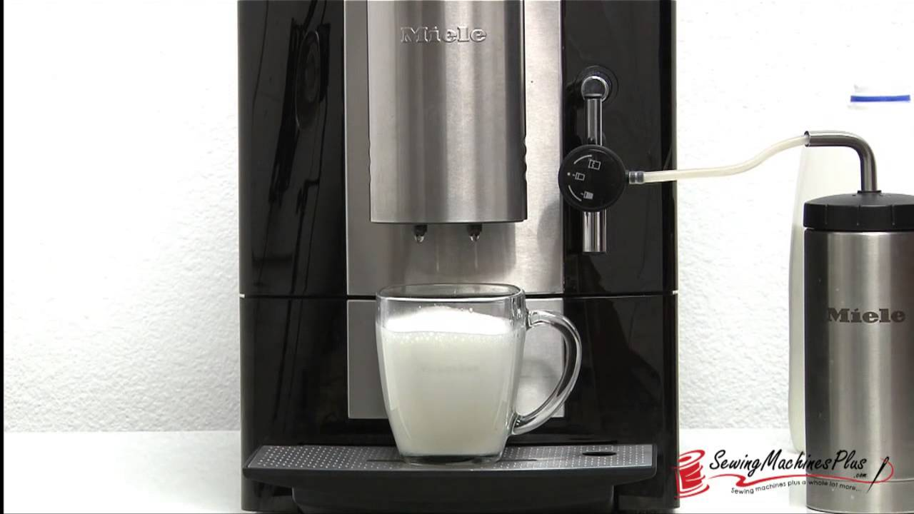 how to make a latte macchiato with the miele cm 5100 countertop coffee system youtube. Black Bedroom Furniture Sets. Home Design Ideas