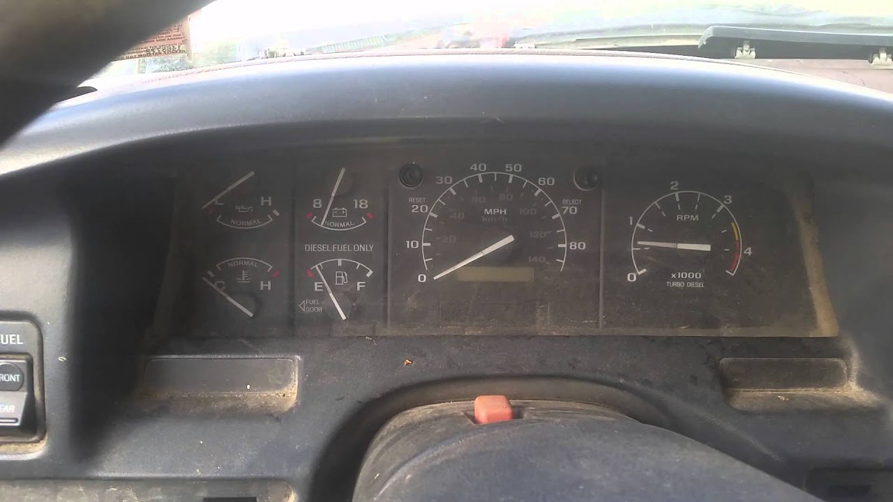 1997 Ford F350 Parts Truck Engine Cold Start And Idle 7 3