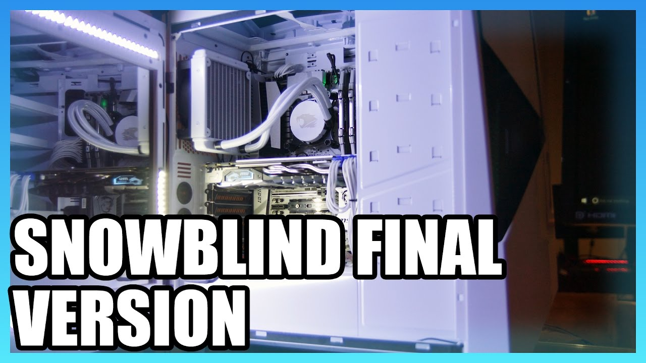 Ibuypower Snowblind Lcd Side Panel Finally Available Youtube
