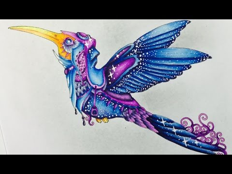 MOUNTS 2 coloring book - HOLBEIN colored pencils - color along