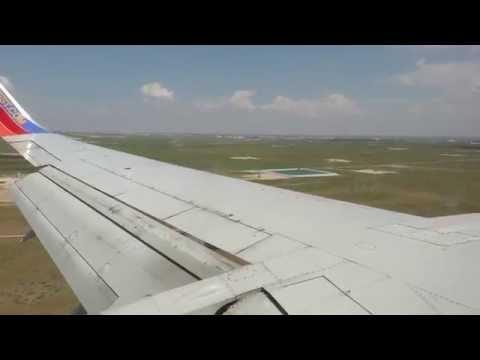 Southwest Airlines landing at Midland International Air & Spaceport (MAF) from Las Vegas