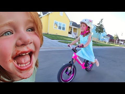 ADLEY LEARNS TO RIDE A BIKE!! What we do Before Bedtime with the Family, and SPAGHETTI