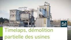Démolition partielle des usines Lafarge à Cormeilles-en-Parisis