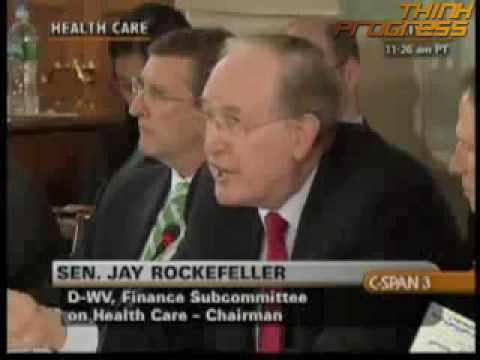 Jay Rockefeller says insurers are like sharks.