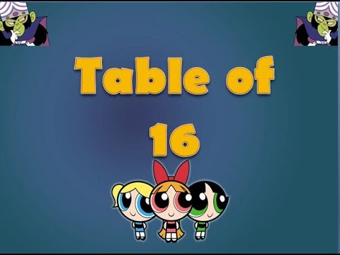 Learn Table of 16 | Table of 16 | Maths Tables