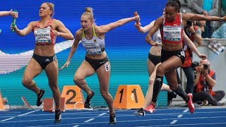 Women's 4 x 100m Relay at ISTAF Berlin 2018