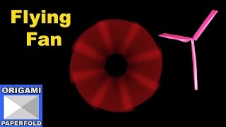 How to Make A Easy Tutorial Paper Fan For kids   - F2BOOK Video 53A