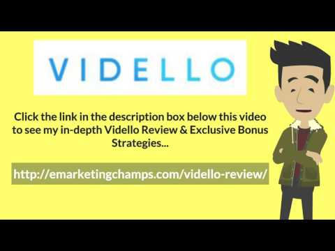 [Vidello Review] Honest Review & Bonus Strategies