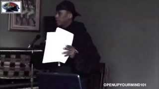 Professor Griff - How The Illuminati Plan To Destroy The Black Race (Unseen Footage)