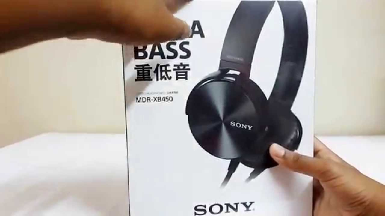 Sony MDR- XB450 Headphones  Unboxing   Review  - YouTube 6b7dee7a52b3b
