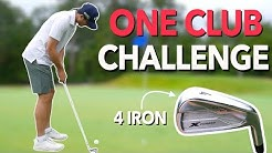 Playing Nine Holes with ONLY a 4 Iron. One Club Challenge | Bryan Bros Golf