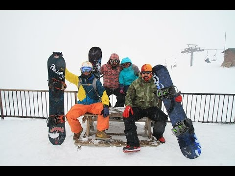 Davraz Kayak Merkezi bol kar 2014 zirve geçişi