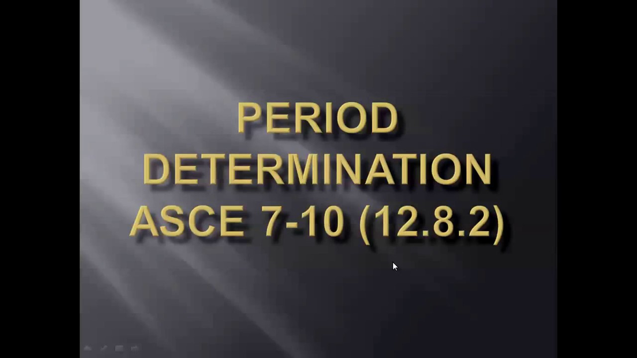Fundamental Time Period - ASCE 7-10 - ترجمة الكود الأمريكى