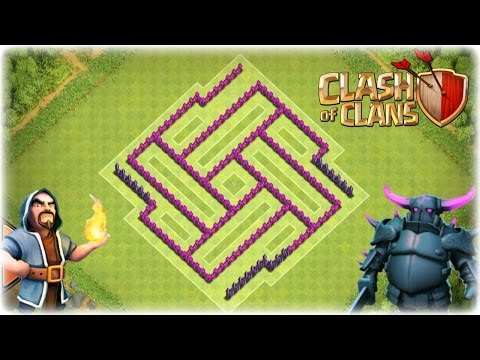 Of clans th7 trophy clan war base defense clip effective traps