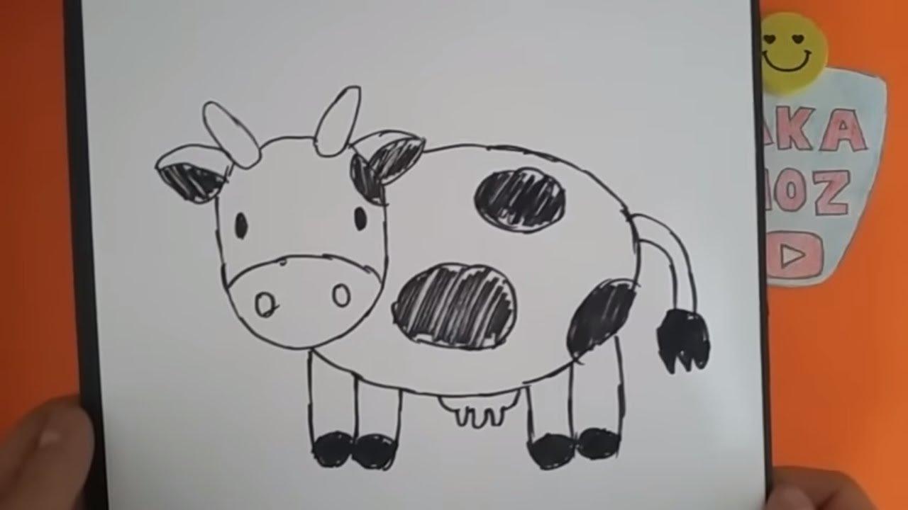 Kolay Inek çizimi Kolay Hayvan çizimi Youtube