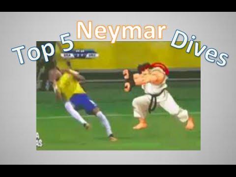 Top 5 Neymar Dives